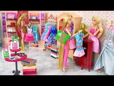Barbie docka Klädaffär 💜 Barbie boutique Tillbehör Butik Leksak