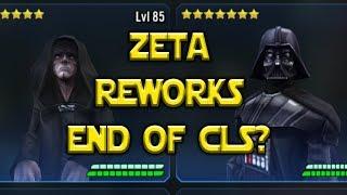 Vader Palpatine Zeta Reworks - End Of CLS Meta? | Star Wars: Galaxy Of Heroes - SWGOH