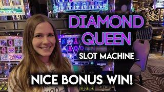Diamond Queen Slot Machine! Great Session! Nice Line Hits + BONUS!!