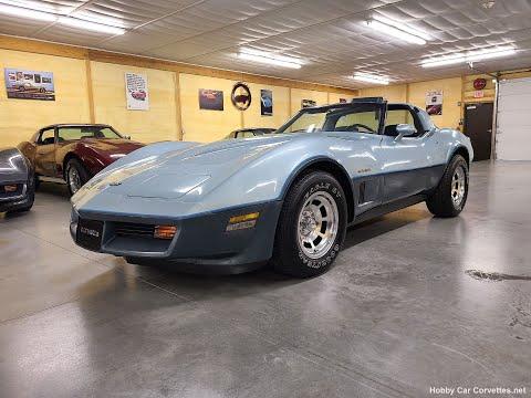 1982 Silver Blue Dark Blue Corvette For Sale Video