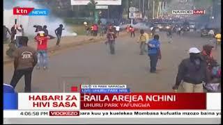 Chaos erupts as police and NASA supporters clash at Uhuru park