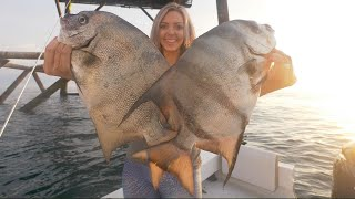 Fishing Offshore Lighthouse for Giant Spadefish - Catch and Cook