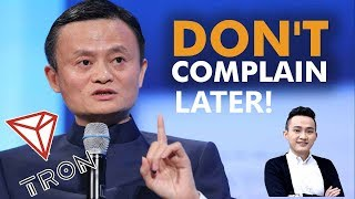 TRON ALIBABA PARTNERSHIP RUMORS! JACK MA WAS PRINCIPLE OF JUSTIN SUN