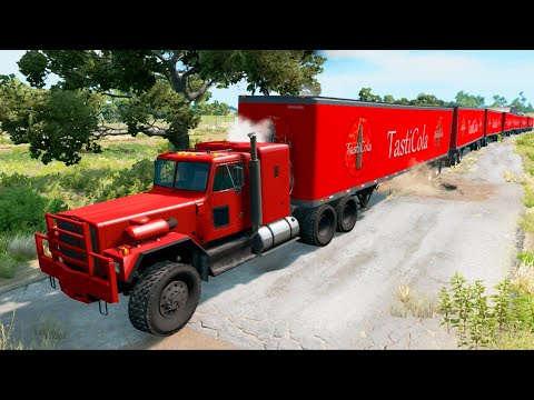 Tasty Cola Delivery vs Potholes #4 - BeamNG.Drive