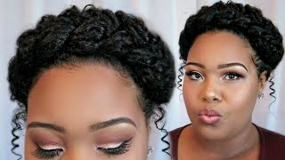 Messy Halo Braid Tutorial On Natural Hair | Holiday Hair 2016