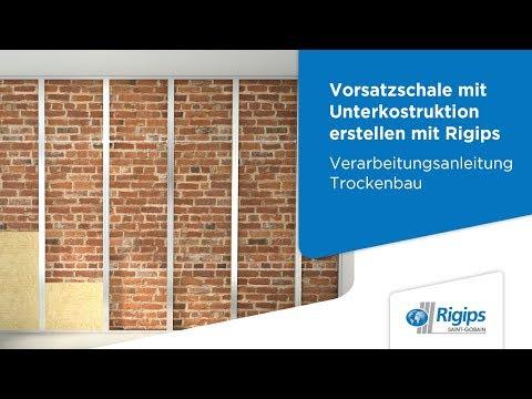 Grundlagen für Rigips Vorsatzschalen mit Unterkonstruktion | Verarbeitungsanleitung Trockenbau