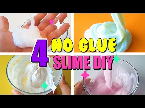 4 NO GLUE SLIME DIY! Find Out What Actually Works!