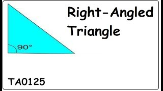 Understand Right Angled Triangle TA0125