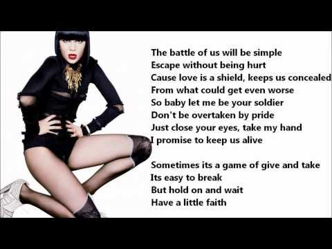 Jessie J - Casualty Of Love /\ Lyrics On A Screen