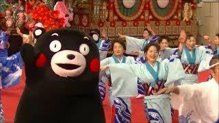 くまモン 牛深ハイヤを踊りきる(ふるさと祭り東京2014: 牛深ハイヤ祭)Kumamon Dancing Ushibuka Haiya