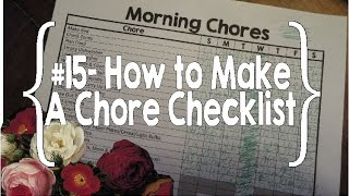 How to Make a Chore Checklist- #15