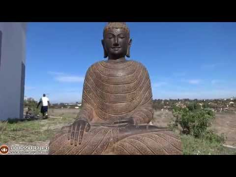 SOLD Stone Earth Touching Garden Buddha 42