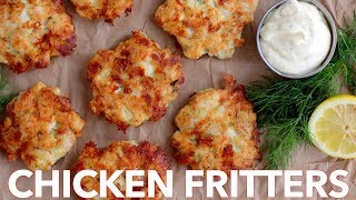 How To Make Cheesy Chicken Fritters - Must Try Chicken Patties