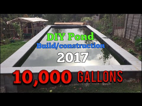 Diy koi Pond build construction project 2017