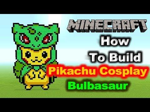 Minecraft Pixel Art Tutorial - Pikachu/Sableye Cosplay (Pokemon