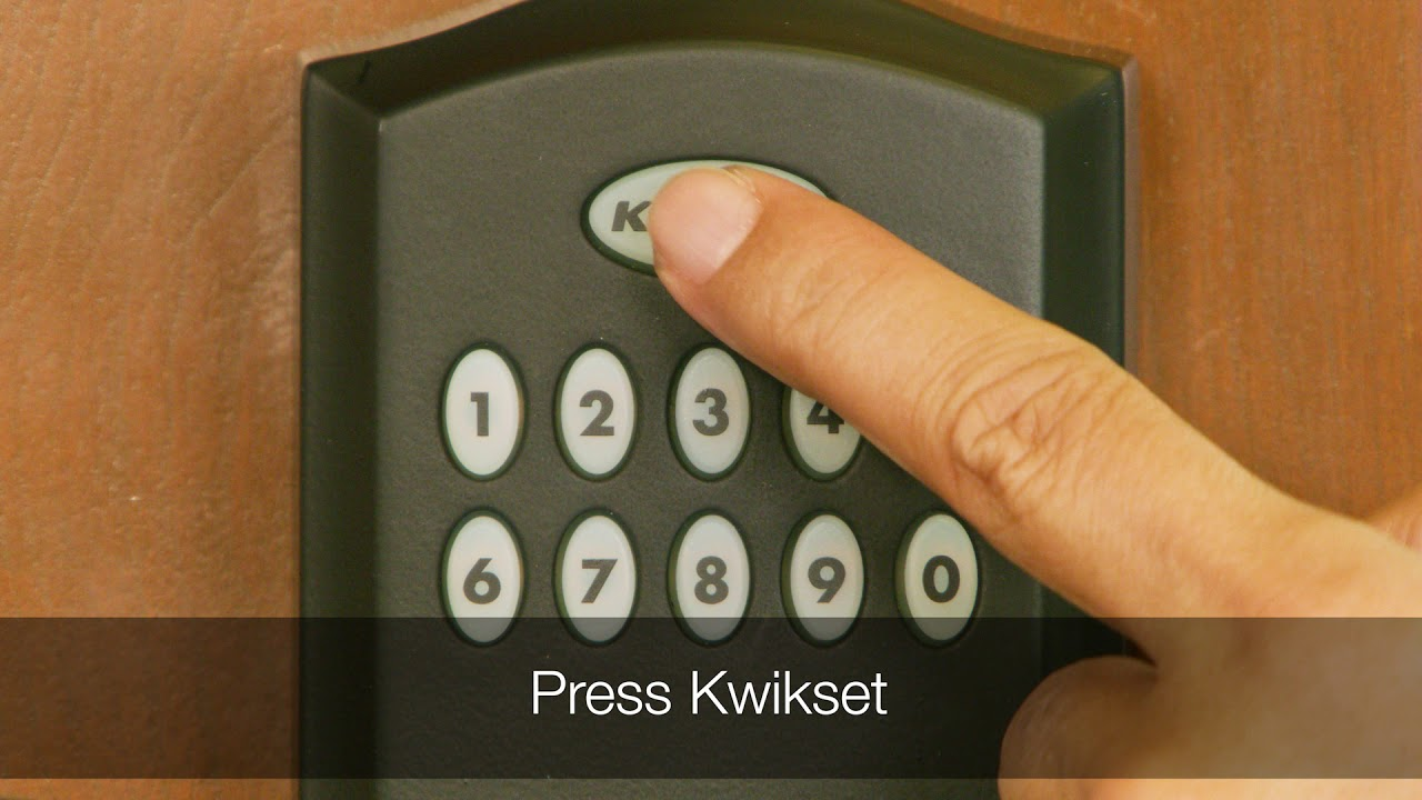 Programming a One Time User Code the Kwikset Smartcode 955