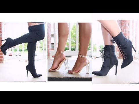 645c3c7cae5 2019 FASHION NOVA Shoe Try-On Haul