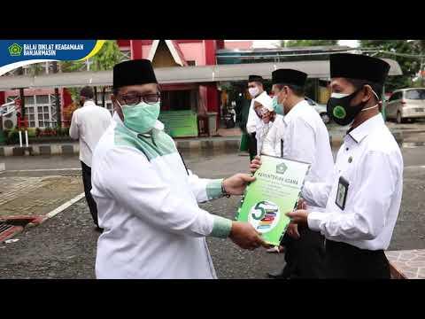 Upacara Hari Amal Bakti (HAB) ke-75 di Balai Diklat Keagamaan Banjarmasin