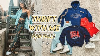 THRIFT WITH ME FOR FALL ☆ hoodies, mom jeans, plaid + more!
