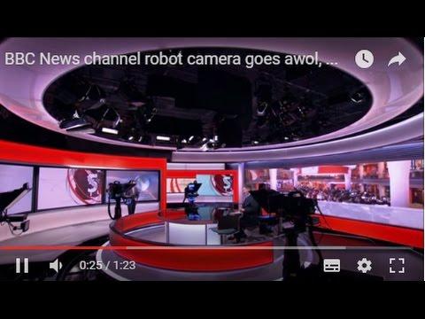 Skynet? BBC News channel robot camera goes awol, to amusement of Simon McCoy and Matt Taylor