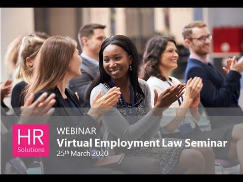 Virtual Employment Law Seminar 2020 - YouTube