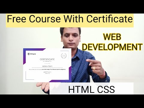 Web development Free Course With Certificate | HTML | Css