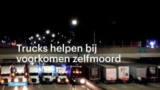 Bijzondere actie truckers voorkomt zelfmoord - RTL NIEUWS