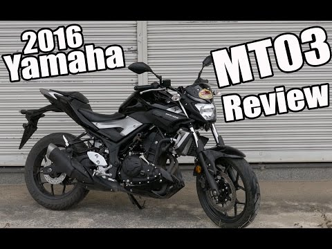2016 Yamaha MT03 Review