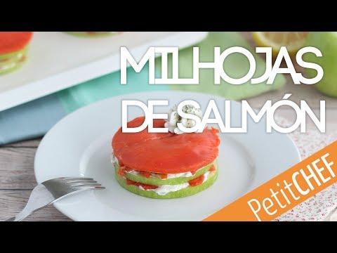 Milhojas de salmón y manzana | Petitchef