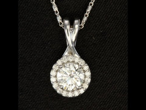 Diamond Pendant .72 Carats Total Weight
