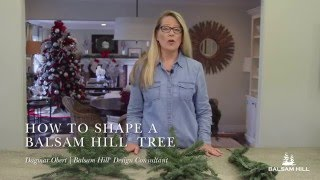 How To Fluff and Shape an Artificial Christmas Tree