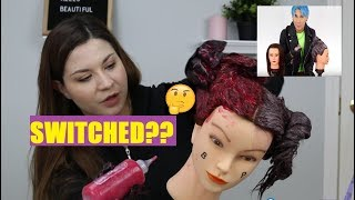 WERE THE MANNEQUINS SWITCHED?? - Recreating Brad Mondo's Box Dye vs Professional Dye Video