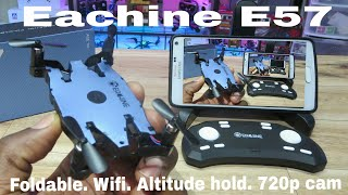 Eachine E57. 720p Cam, wifi fpv. Review, flight