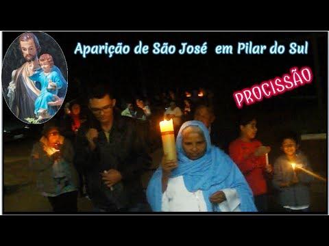 Aparição de São José em Pilar do Sul em 19.06.2017 Procissão
