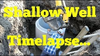 DIY Shallow Well Timelapse (From Start To Finish)