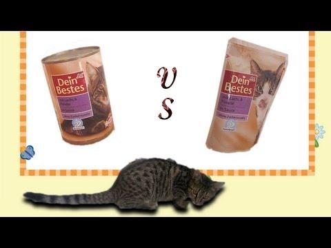 """DM """"Dein Bestes"""" Katzenfutter - Was ist besser, das Essen aus der Dose oder aus dem Tütchen"""