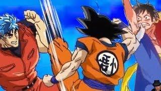 Dragon Ball Z X One Piece X Toriko Full Special Review  Goku Vs Luffy & Toriko