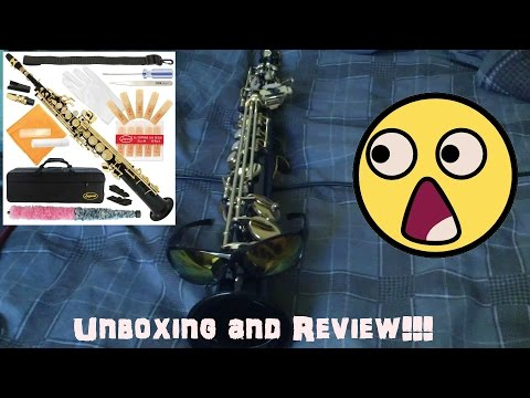Lazzaro Bb Straight Black/Gold Soprano Saxophone Unboxing and Review