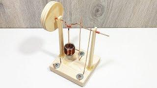 Как сделать одноцилиндровый электродвигатель своими руками?