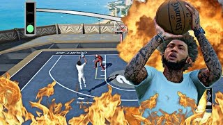 NBA 2k16 MyPark - NOBODY CAN GUARD THE BEST SHOOTER CAM! | 2 AGAINST 1 HANDICAP MYPARK GAMEPLAY