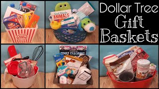 Dollar Tree Gift Baskets • five baskets averaging $10 each