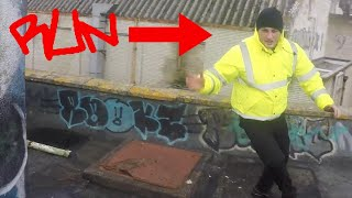 Graffiti Artist Chased By SECURITY