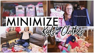 I GOT RID OF 1/3 OF MY KIDS CLOTHES! 🧺 | Minimize With Me + Kids Clothes