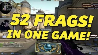 CS:GO - GLOBAL ELITE GAME: 52 Frags 10 Assists!