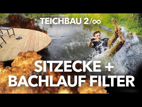 Teich Naturfilter-Bachlauf + Sitzplatz –Teichbau 2 | Heimwerkerking Fynn Kliemann