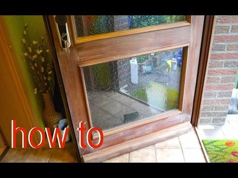 Holz Haustür selbst streichen Anleitung