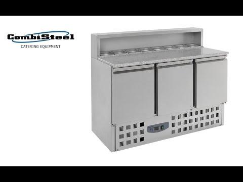 video 1, Meuble à pizza 3 portes GN1/1 structure réfrigérée