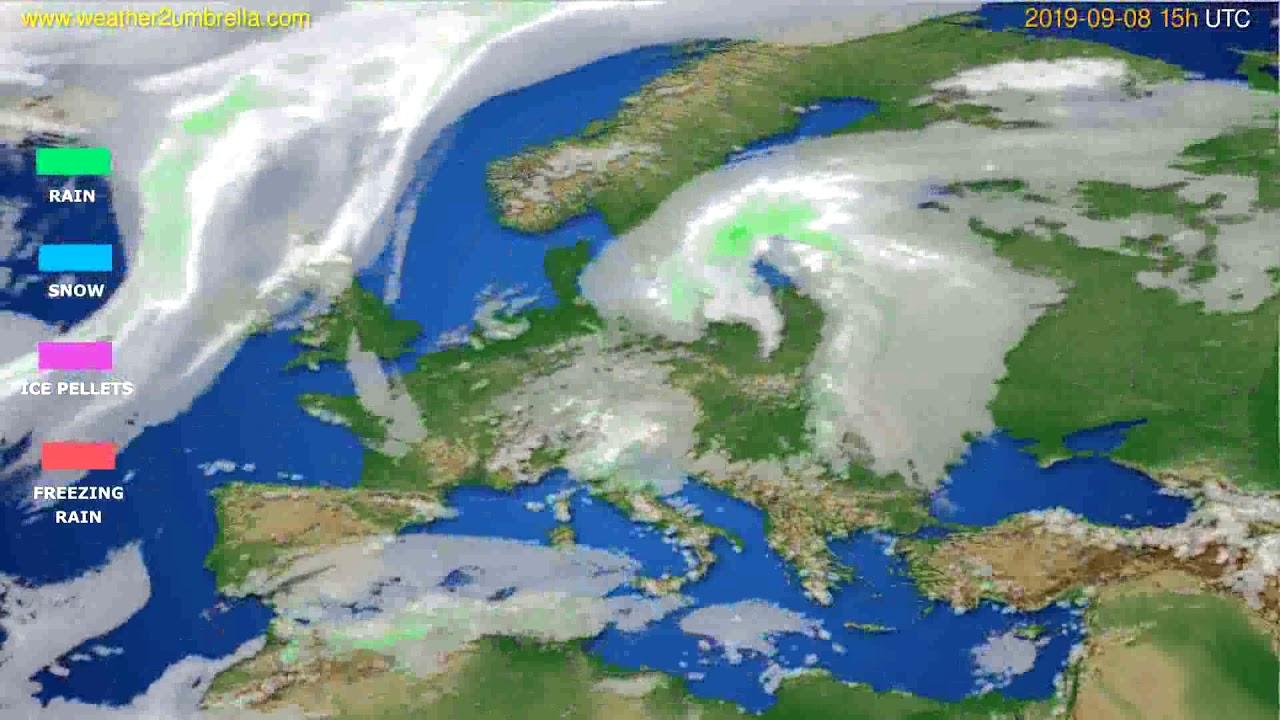 Precipitation forecast Europe // modelrun: 12h UTC 2019-09-05