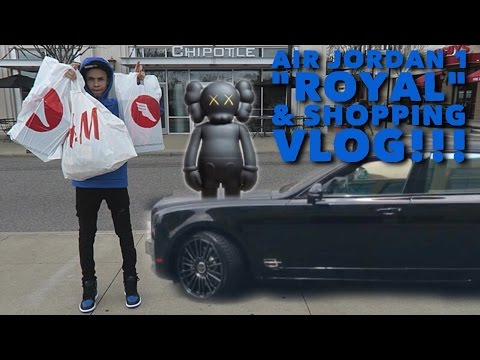 GUY GOES CRAZY WHEN HE SEE'S ME WEARING THE KAWS 4's 98%ers & ROYAL 1/CLOTHES SHOPPING VLOG!!! Mp3