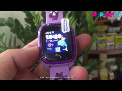 Đồng hồ đinh vị trẻ em BabyKid GW400S màu tím